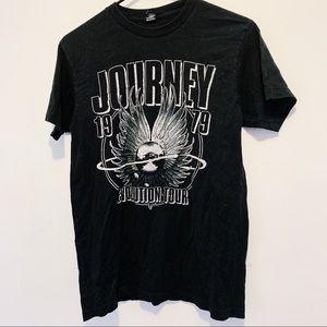 Journey Revolution Tour Graphic Band Tee B+W